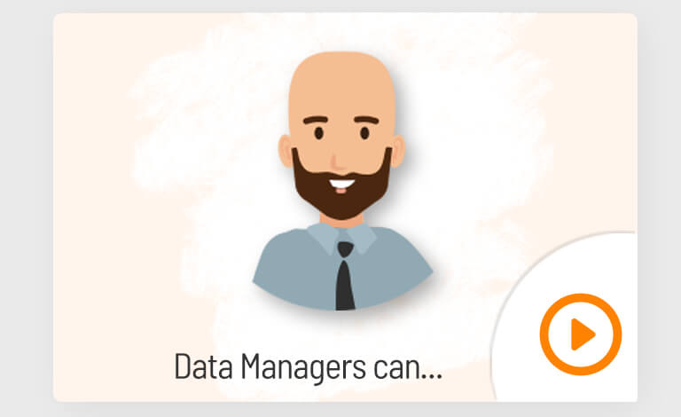 Data managers can video